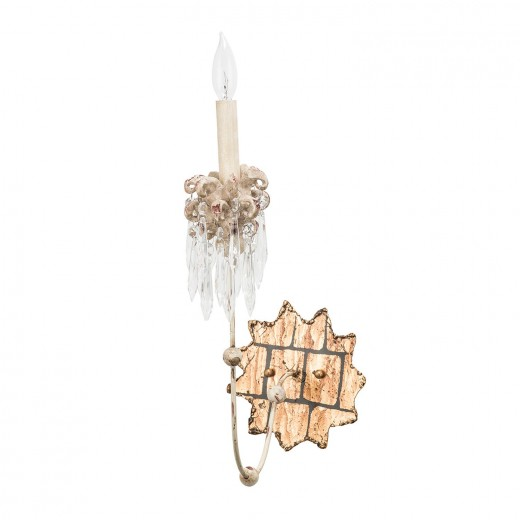 Wandleuchter CANDELA 14 in Gold Kristall Lampe