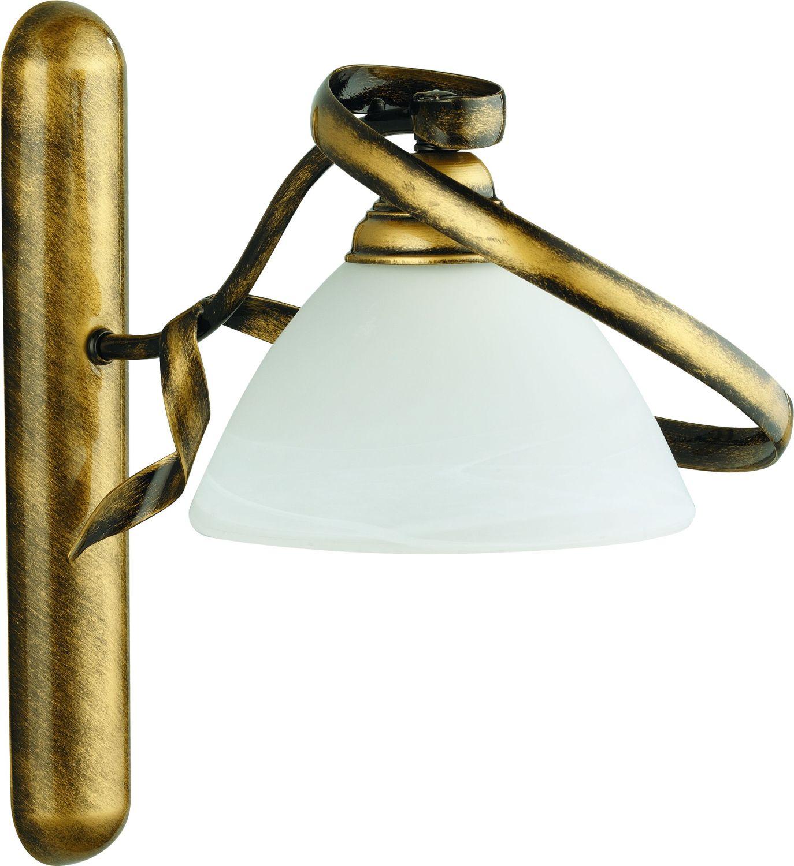 Wandleuchte Messing Metall Jugendstil Antike Lampe