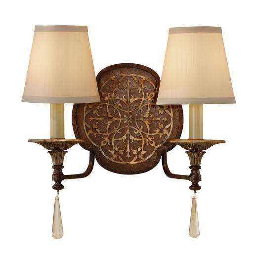 Wandlampe SAMEA Bronze B:39cm 2xE14 Design Leuchte