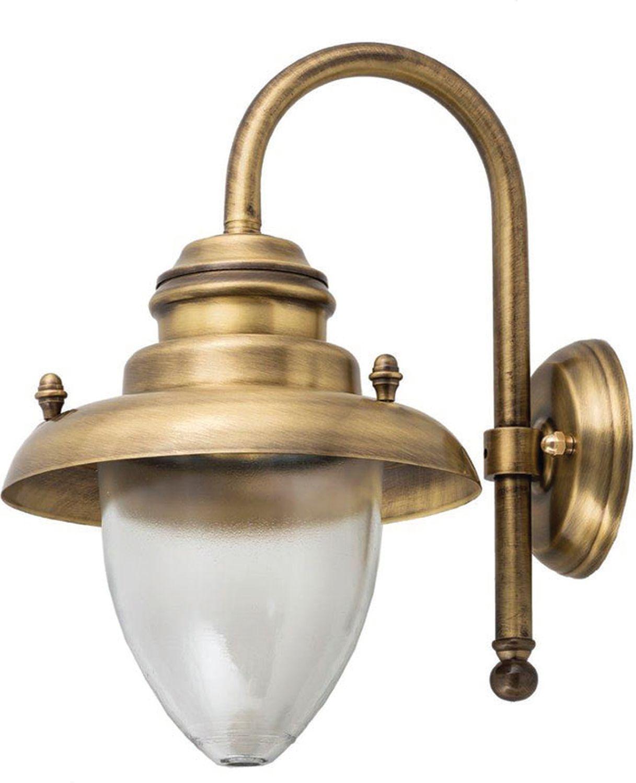 Wetterfeste Wandlampe MARIOS Messing Maritim Hof