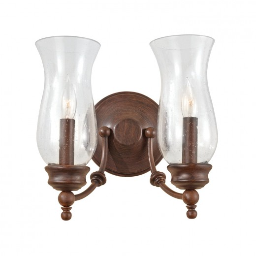 Wandleuchte JASCHA Bronze 2xE14 wohnlich Lampe