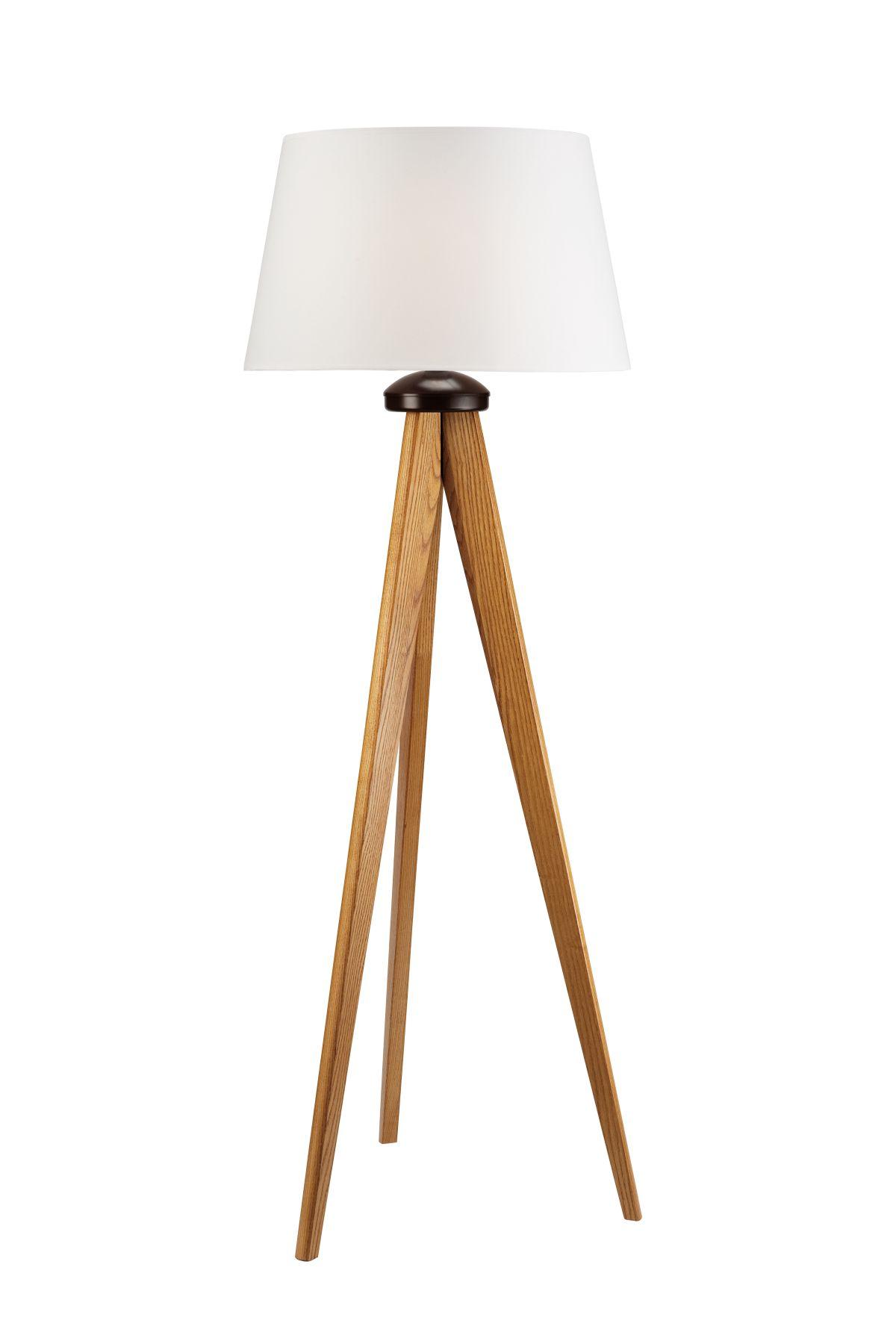 Stehleuchte Klein Holz Rustikal Wohnzimmer Lampe