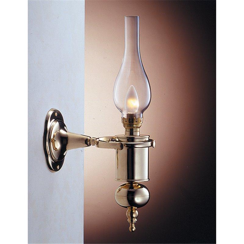 Antike Wandlampe Glas Messing Jugendstil GRETA