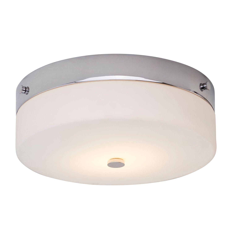 LED Bad Deckenleuchte Chrom IP44 Ø30cm Lampe JANJA