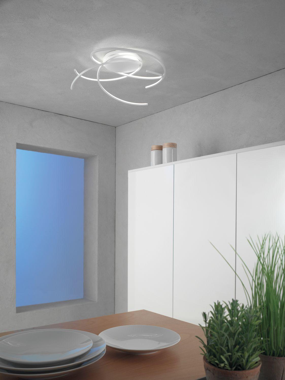 Escale - 44480109 LED Deckenlampe Dimmbar Weiß Ø55cm Modern Design Raumlicht SPACE