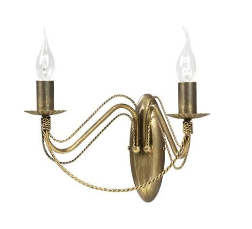 Wandleuchter Gold Rustikal Metall 2-flammig E14