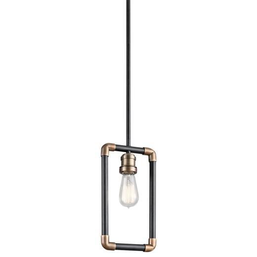 Deckenleuchte DREVO Schwarz Messing kürzbar Lampe