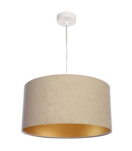 Wohnzimmerlampe Esstischleuchte Beige Gold Stoff