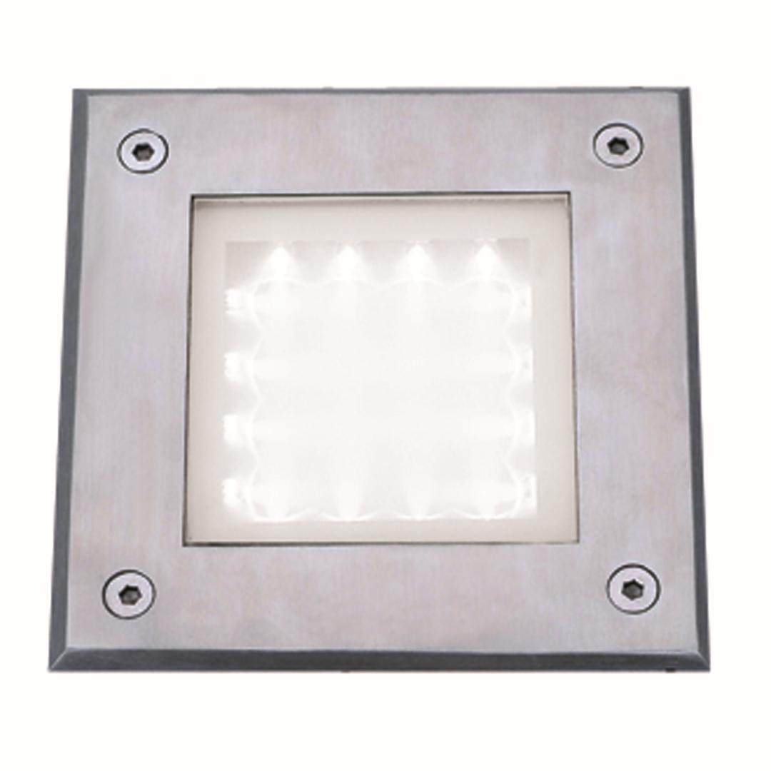 Moderne quadratische LED Außen Bodeneinbauleuchte