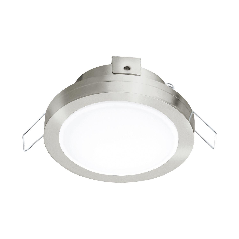 Runder Einbau LED Spotstrahler Pineda 1 Nickel Ø8cm