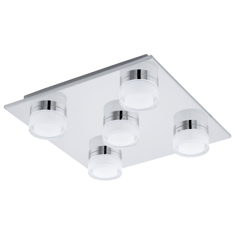 LED Deckenleuchte Romendo Chrom 5-Flmg