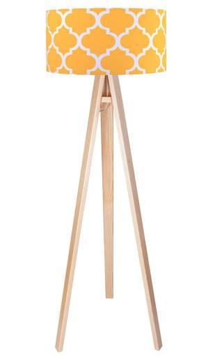Stehleuchte Braun Orange 140cm Retro Wohnzimmer