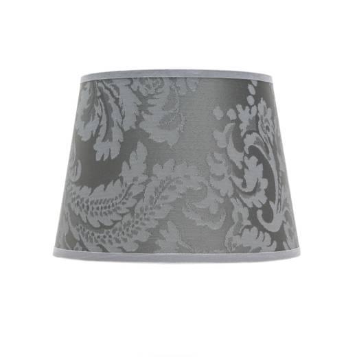 Kleiner Lampenschirm Tischleuchte Stoff Silber