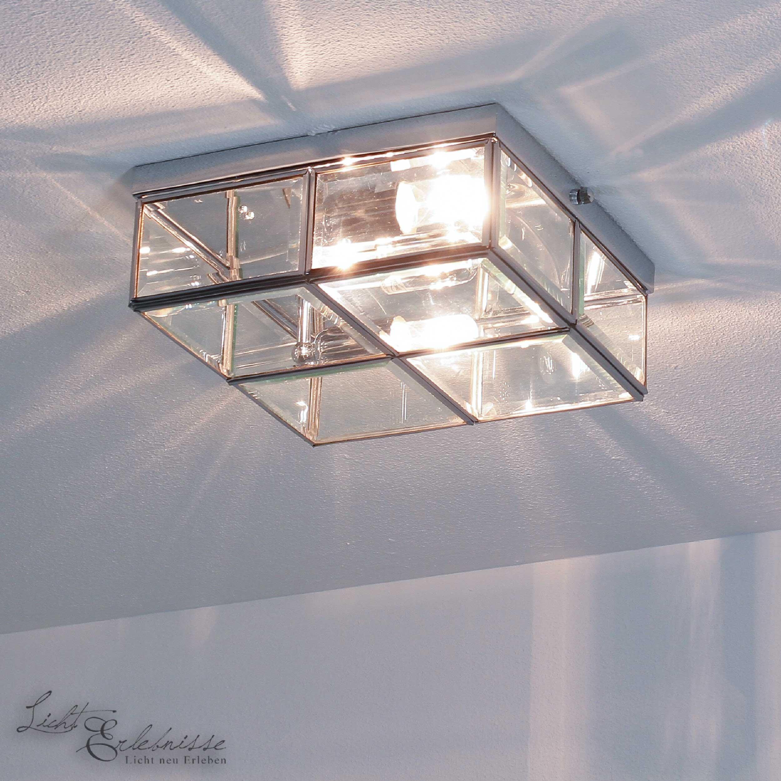 Deckenlampe in Chrom