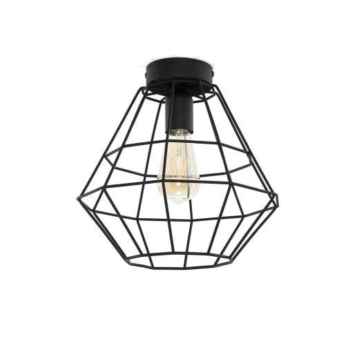 Stylische Deckenlampe DIAMOND Schwarz Modern Ø28cm