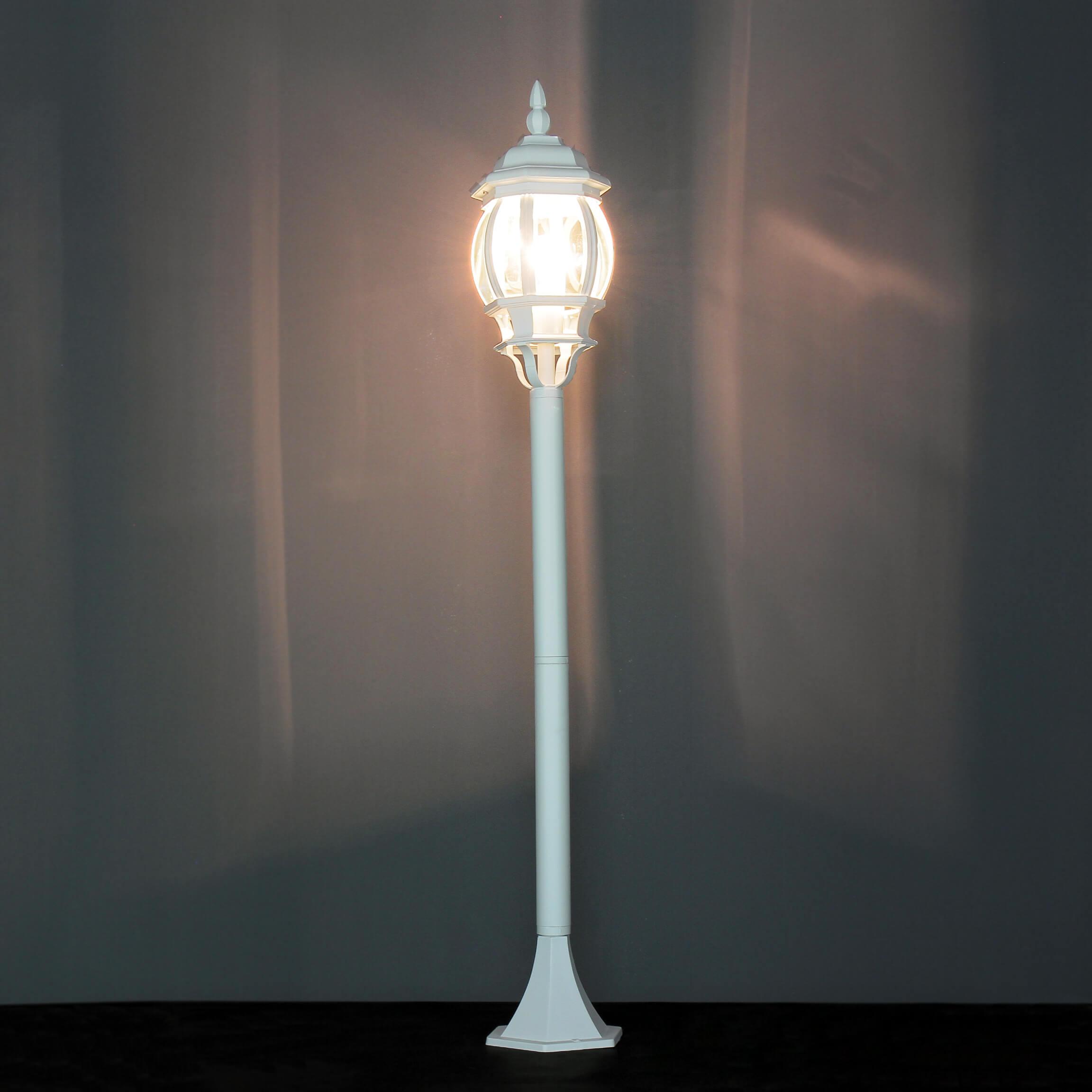 Weiße Außen Steh Leuchte BREST 110cm regenfest
