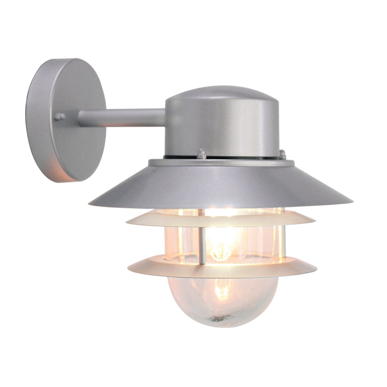 Moderne Wandlampe SOLAS Edelstahl Maritim IP44 Hof