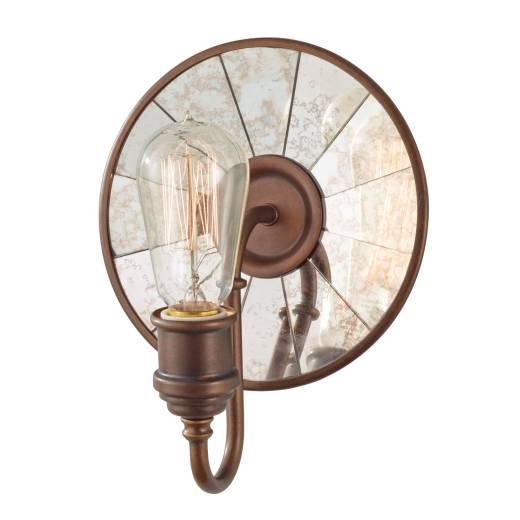 Wandlampe LANA Bronze Antik Spiegel B:20cm Lampe