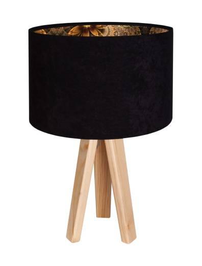 Tischleuchte ERICA Schwarz Gold Retro Dreibein 46cm