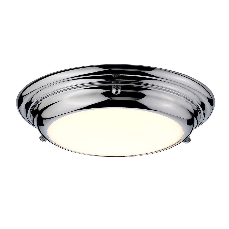 Deckenleuchte LED ANISA in Chrom Ø25cm Bad Lampe