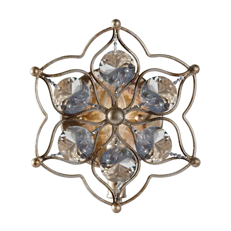 Wandlampe VELA Silber Floral Kristall Modern Lampe