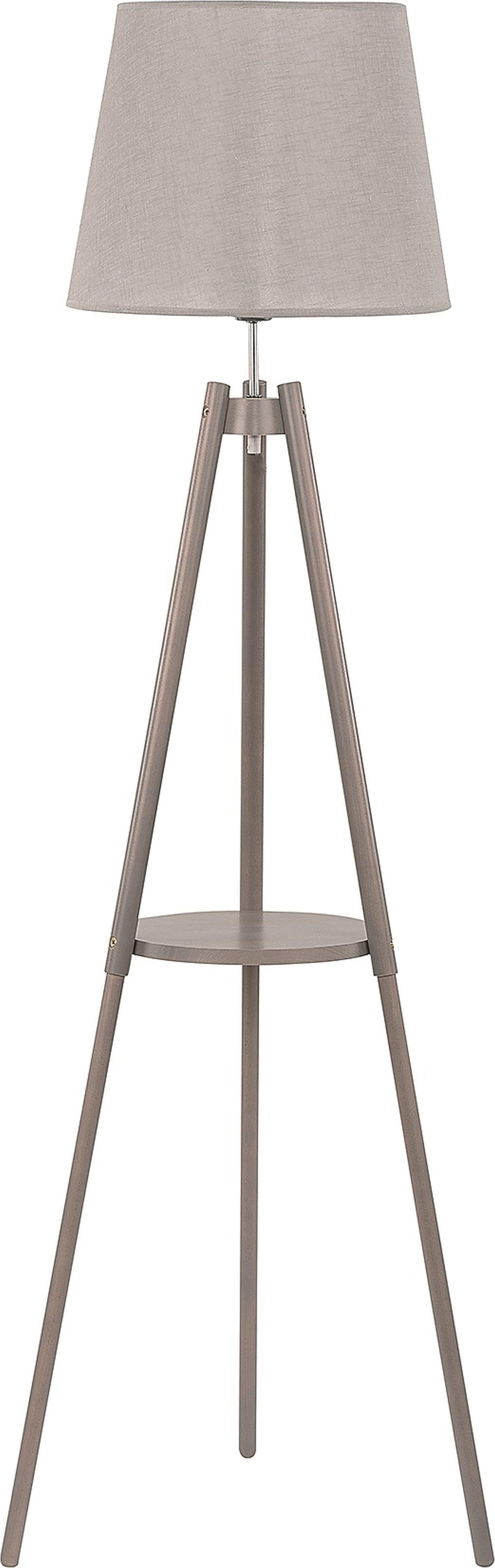 Standleuchte Lozano Grau Holz