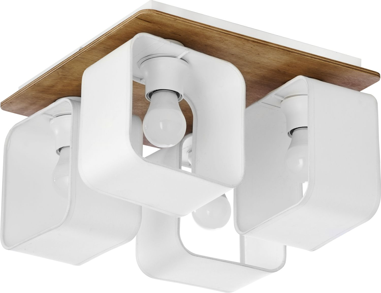 Deckenleuchte SAMA Weiß Holz 4x E27 Küche Esszimmer