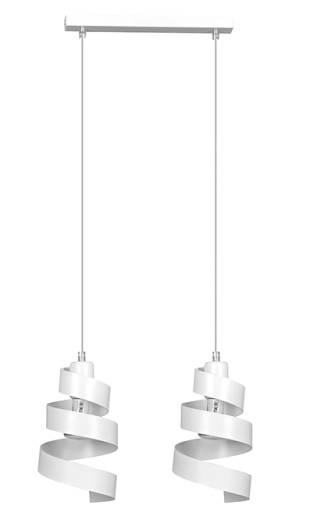 Design Hängelampe Weiß Metall 2-flammig 2x E27