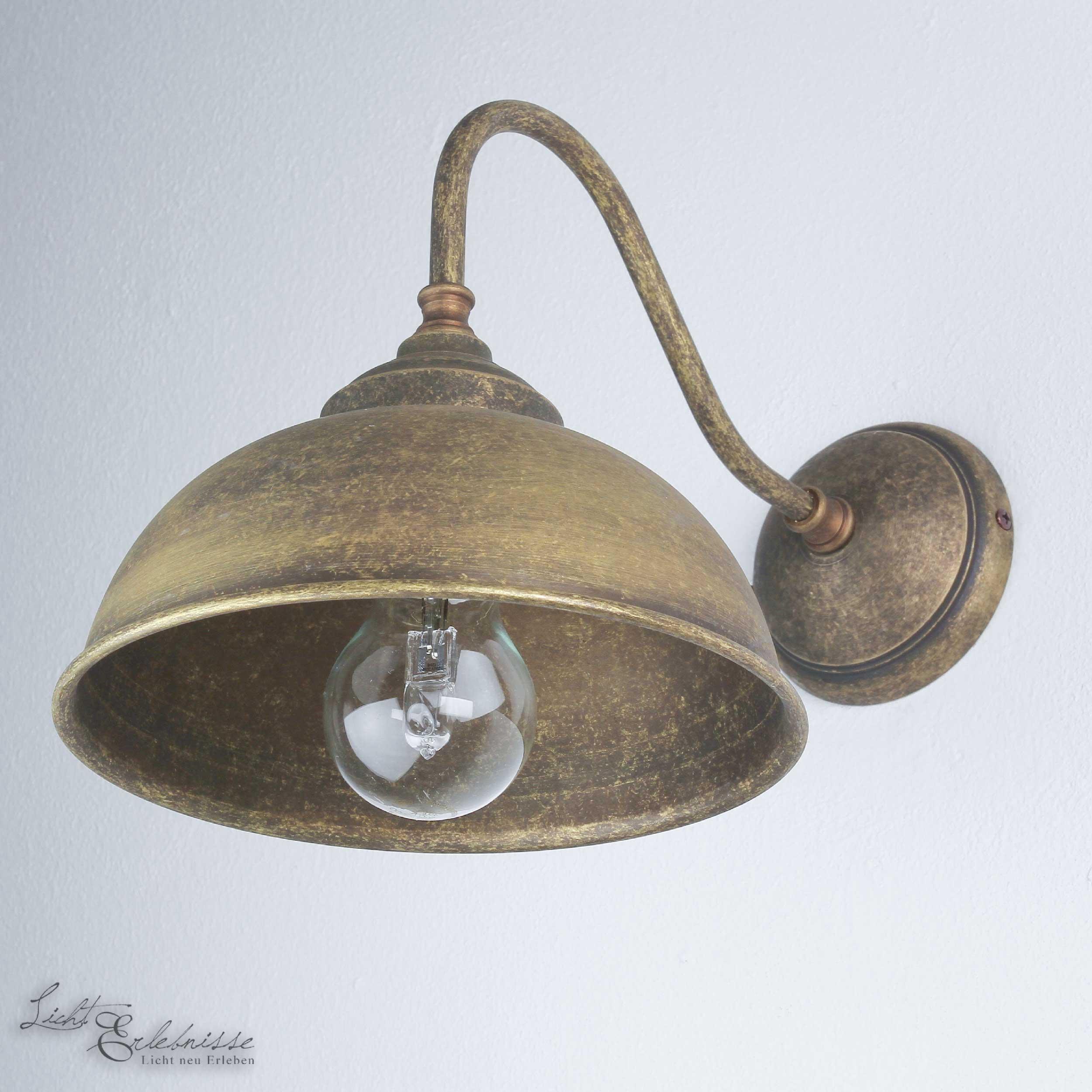 Wandlampe Bronze Antik Echt-Messing Oslo
