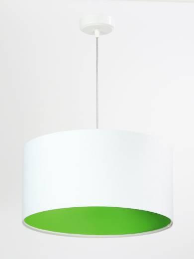 Pendelleuchte Weiß Grün Retro rund Esstisch Lampe
