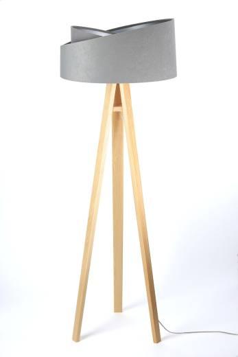 Stehlampe EFIE Grau Silber 145cm Skandinavisch