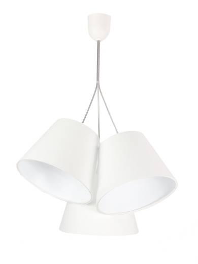 Pendelleuchte Esstisch Wohnzimmerlampe Weiß Stoff