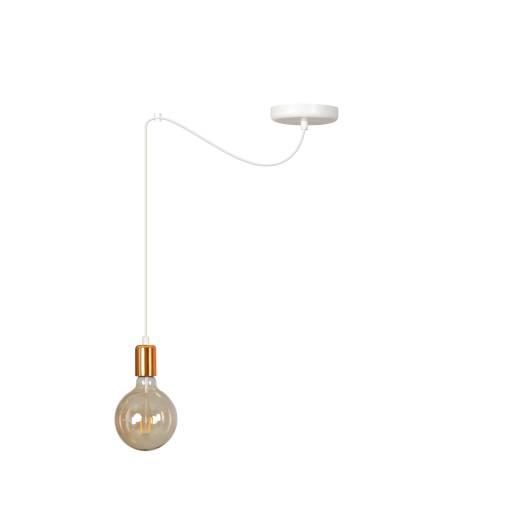 Pendellampe Weiß minimalistisch 3-flammig E27