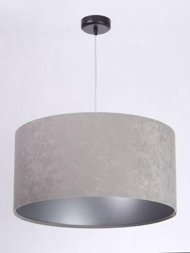 Hängelampe Esszimmertisch Grau Silber Stoff Retro