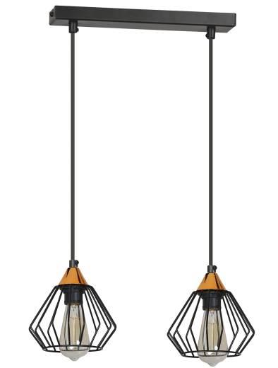 Esszimmerlampe Schwarz Draht Schirm verstellbar