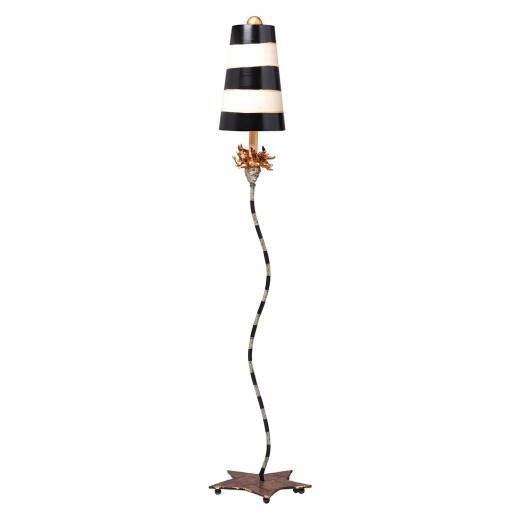 Stehlampe SILUETA Schwarz Blattgold 185cm Lampe