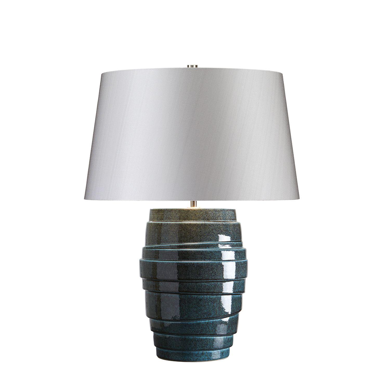 Tischleuchte JAMAL Blau Grau H:59cm Ø43cm Lampe