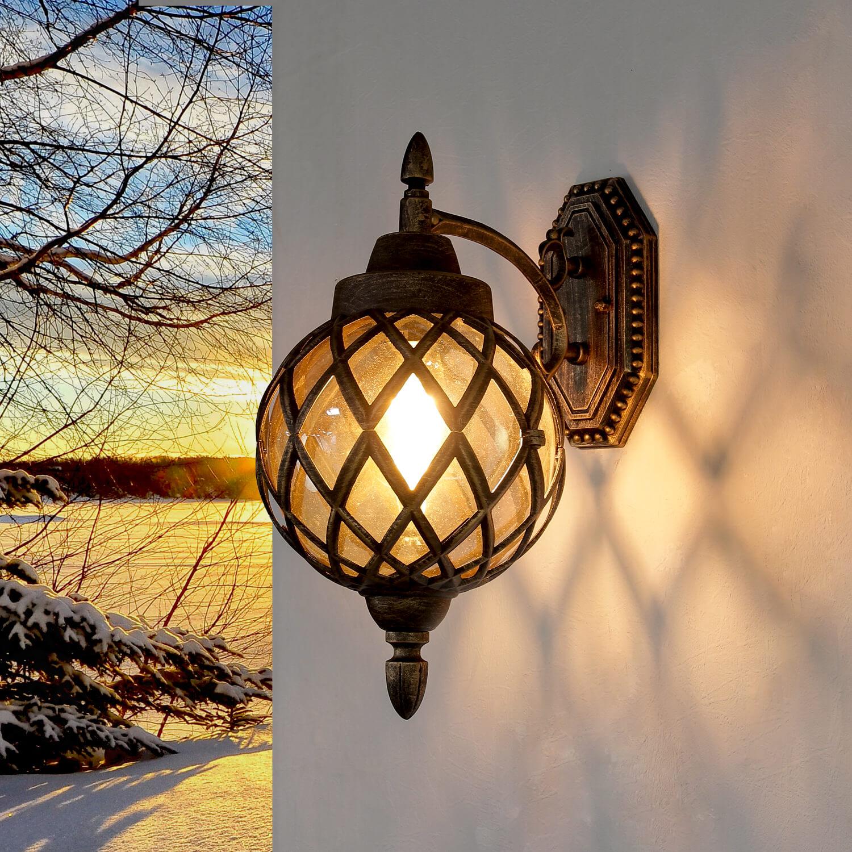 Wandlampe Außen in Kupfer antik IP44 Vintage