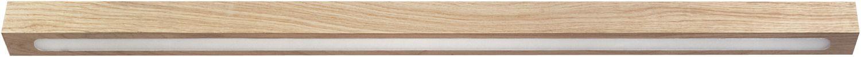 Lange Deckenleuchte Futura aus Holz schmal LED