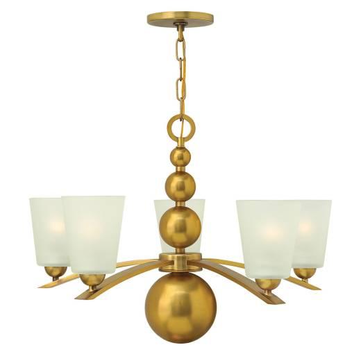 Kronleuchter ROMINA in Messing Ø69cm kürzbar Lampe