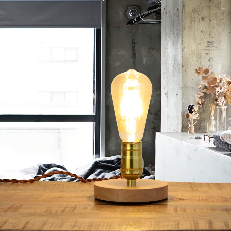 Dekorative Tischlampe EDISON Industrial Design rund