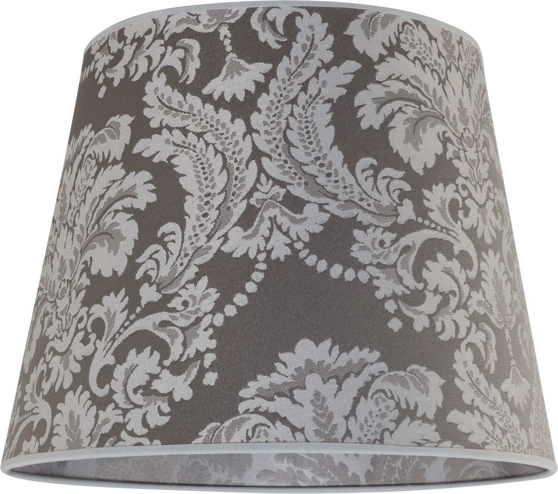 Lampenschirm Stoff Silber Muster E27 Pendelleuchte