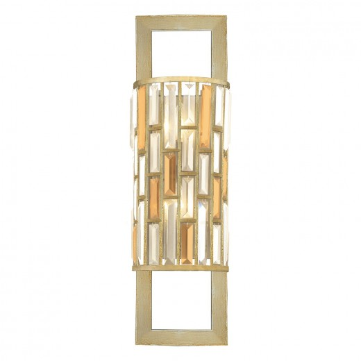 Wandlampe PRISM B:31cm Blattsilber Lampe Art Déco