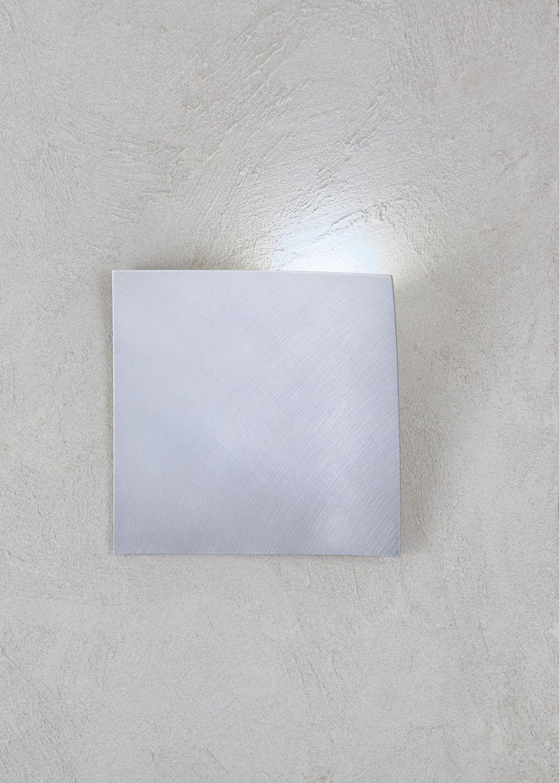 Escale - 44750102 Edle LED Wandleuchte Aluminium eckig Öffnung rechts GAP