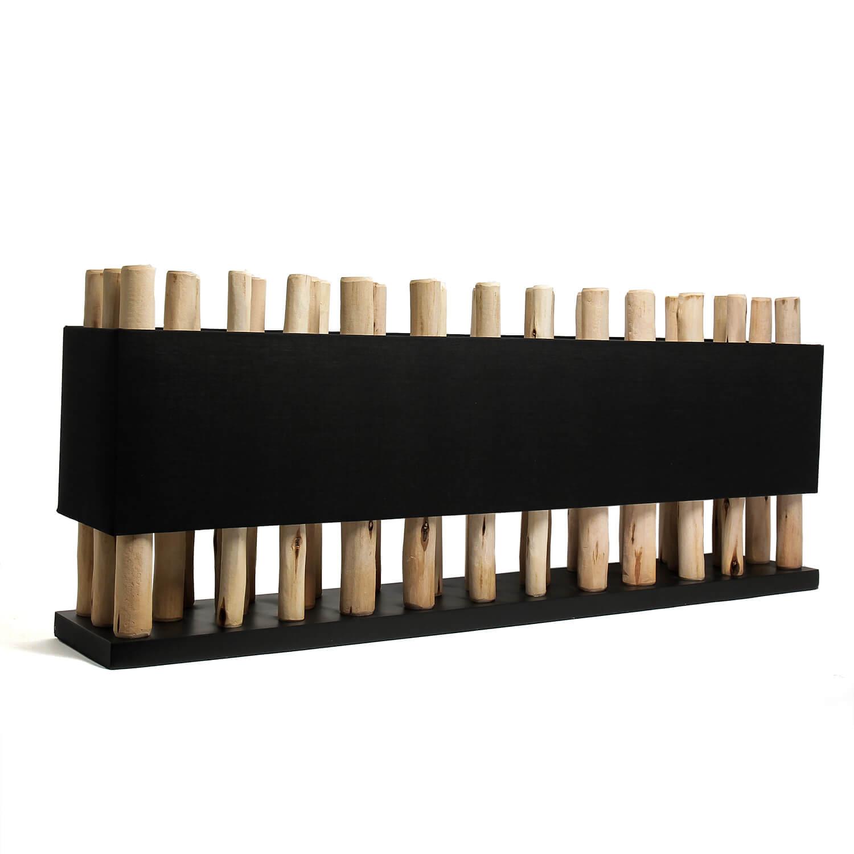 Design Tischlampe Treibholz Modern Wohnzimmer