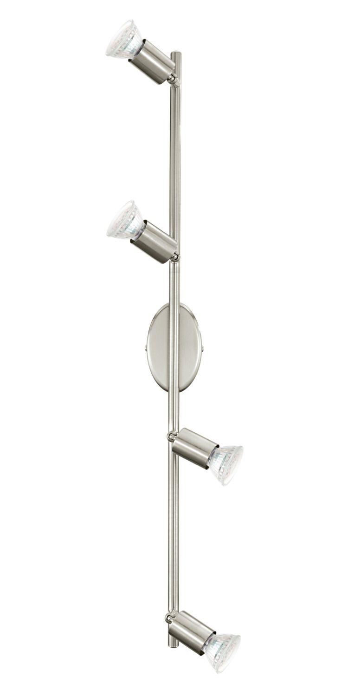 Außergewöhnlicher Aufbau Spotstrahler Buzz-LED Nickel-Matt 4-Flmg