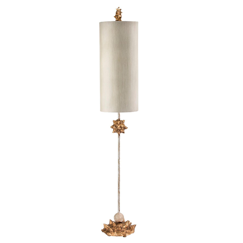 Tischlampe MARLO Gold Weiß 102cm Bodenleuchte