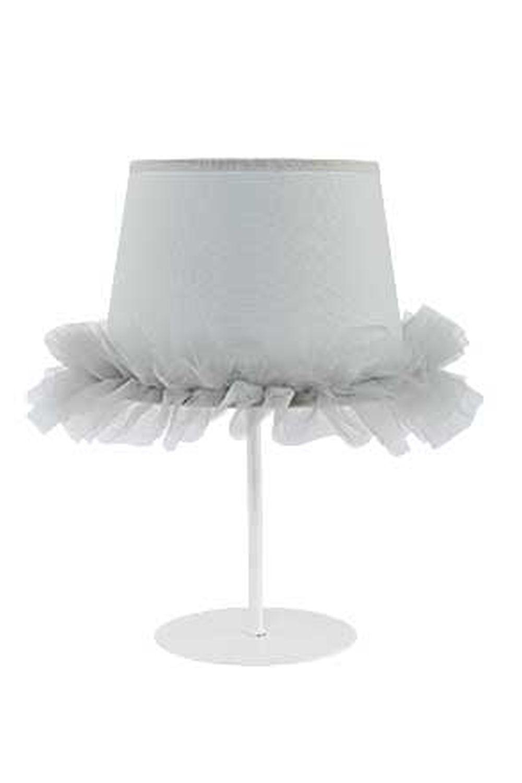 Graue Nachttischlampe Stoff Für Mädchen Kinder