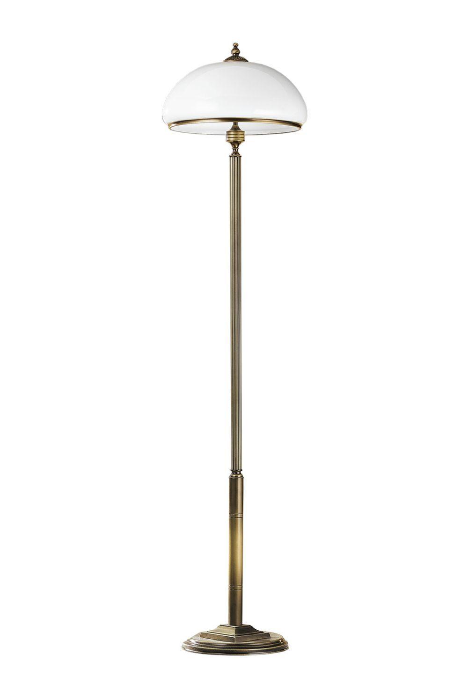 Stehlampe MARLOW in Messing antik 170cm Wohnzimmer