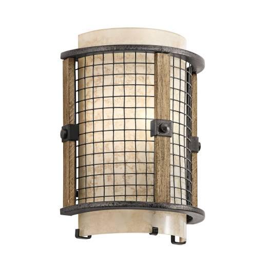 Designer Flurlampe Wand Eisen Stein Industrie Look